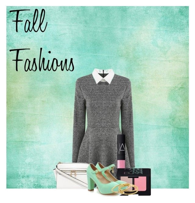 """Fall fashions"" by chrystiereed ❤ liked on Polyvore featuring NARS Cosmetics, Shoes Galore and Gorjana"