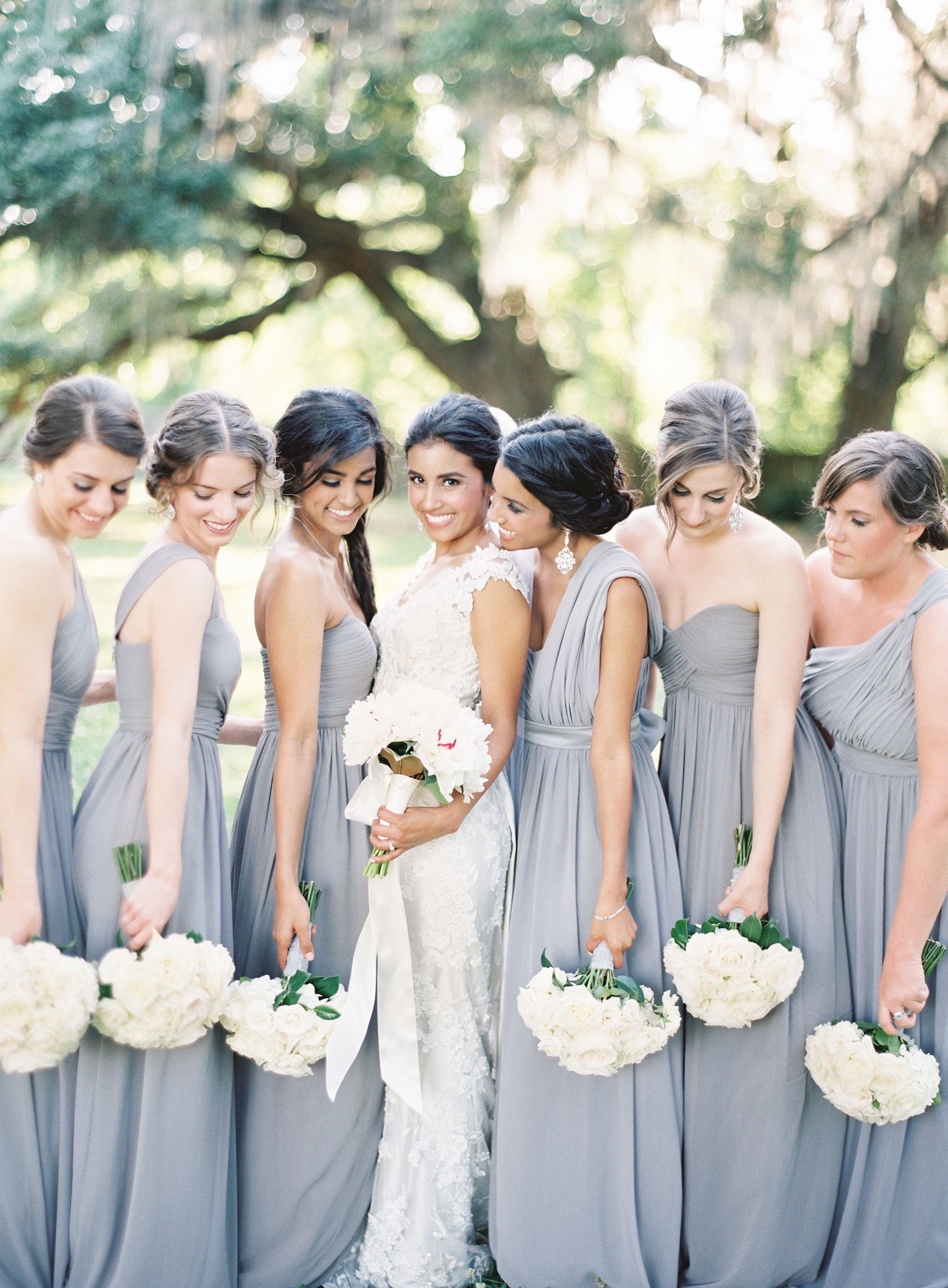 cef8f5e902 A stunning sterling wedding! Featured on  Stylemepretty as a top bridesmaid  dress for Fall 2014