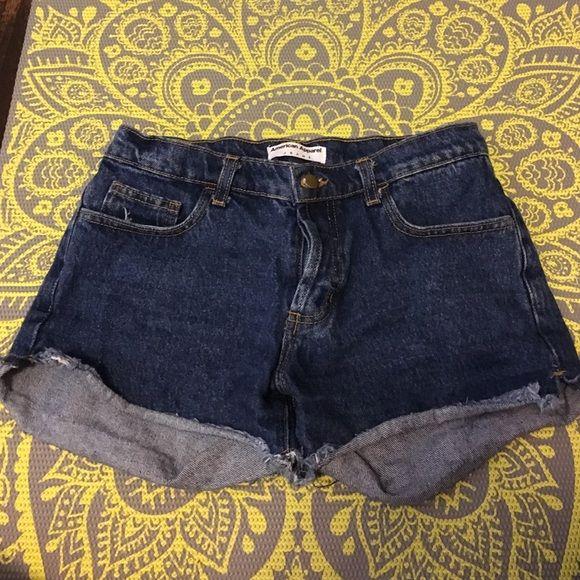 American apparel denim jean shorts size 28 American apparel button up denim jean shorts size 28 (fit more like 27!) American Apparel Shorts Jean Shorts