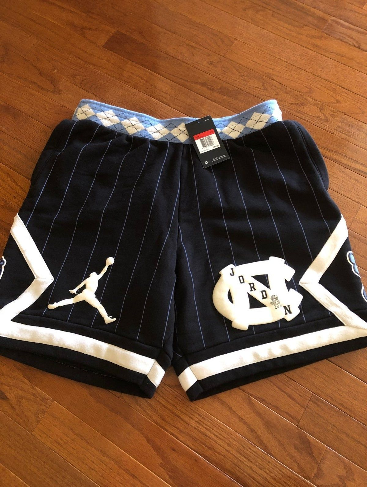 Jumpman  Size XL BNWT UNC North Carolina Just Don Mitchell /& Ness Shorts