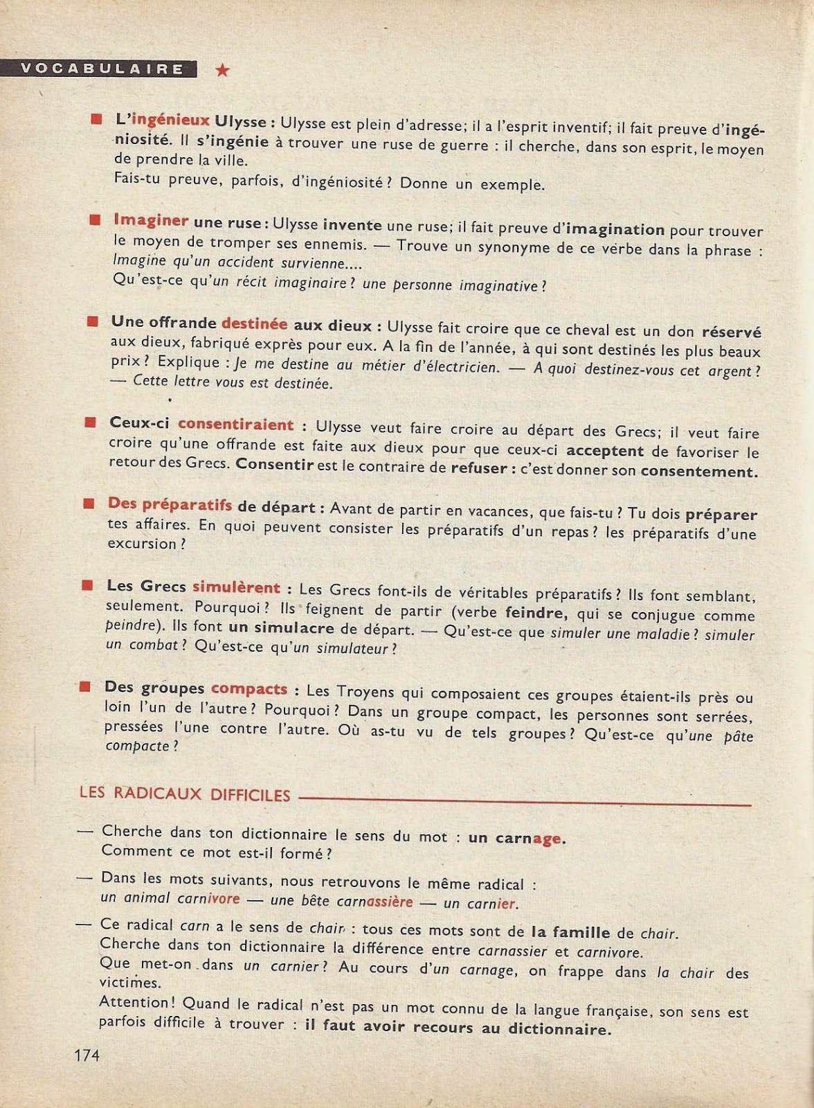 Des Idees Et Des Mots Cm Et Cs Elocution Vocabulaire Orthographe Expression Ecrite 1962 Expression Ecrite Vocabulaire Orthographe