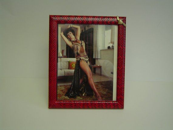Red Python Snakeskin Picture Frame by Murroexotics on Etsy, $189.00