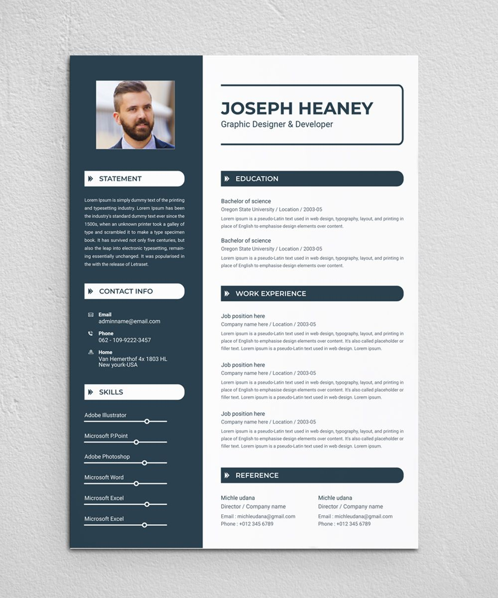 heaney resume template
