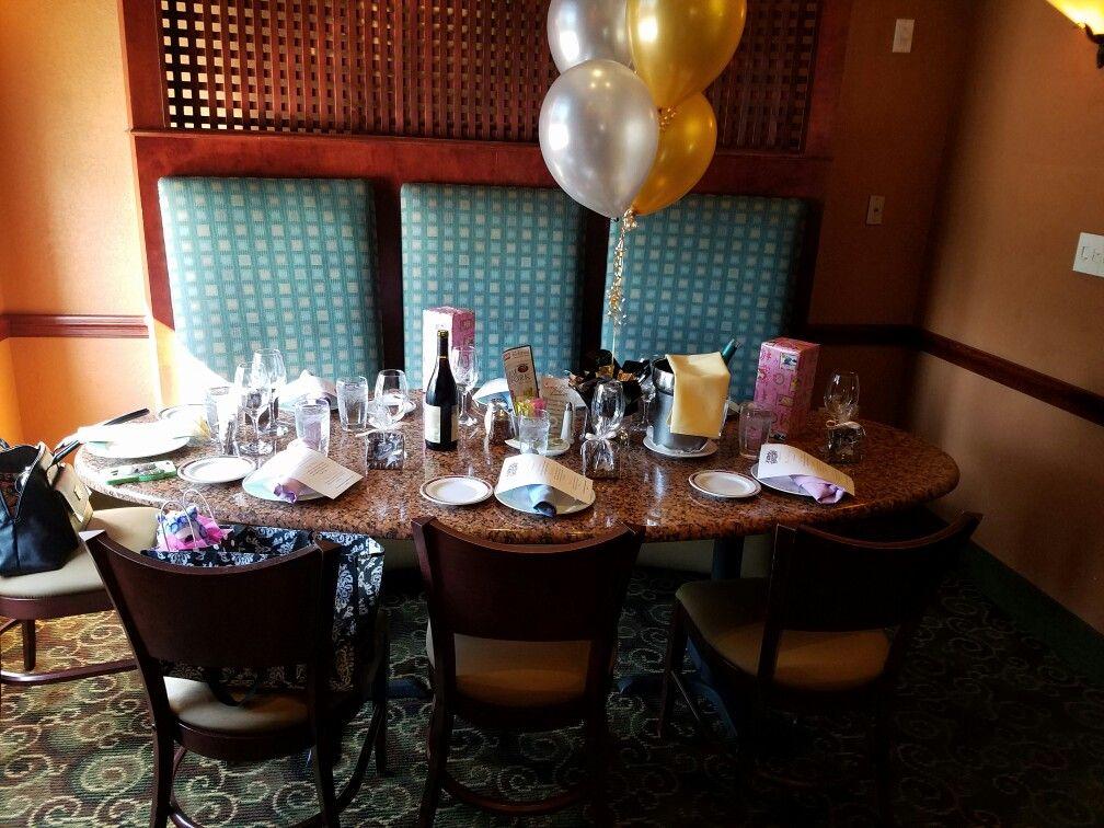 The main table set up at Luna Rossa Biagio Lamberti Italian