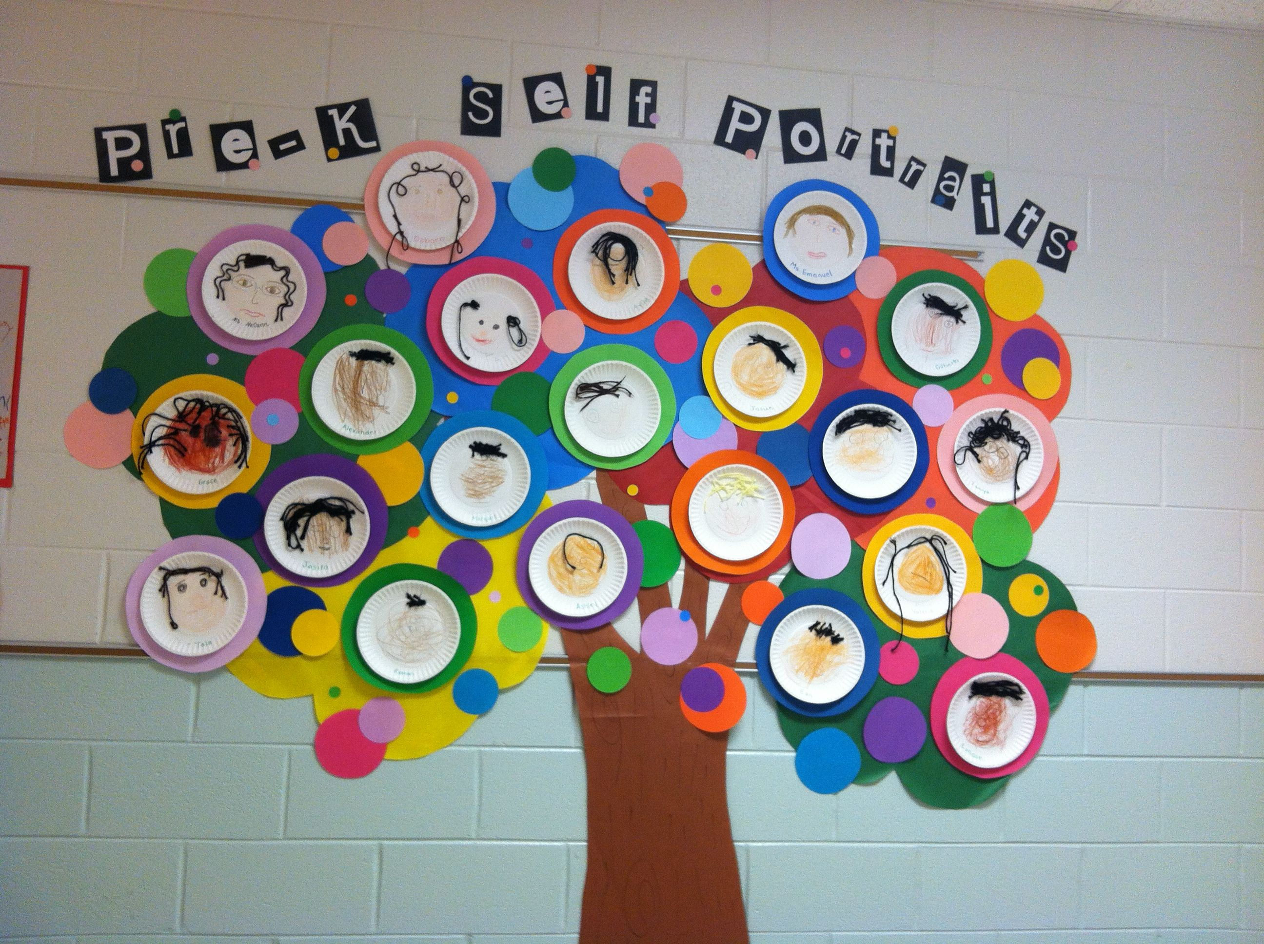 Pre K Self Portraits During All About Me Unit