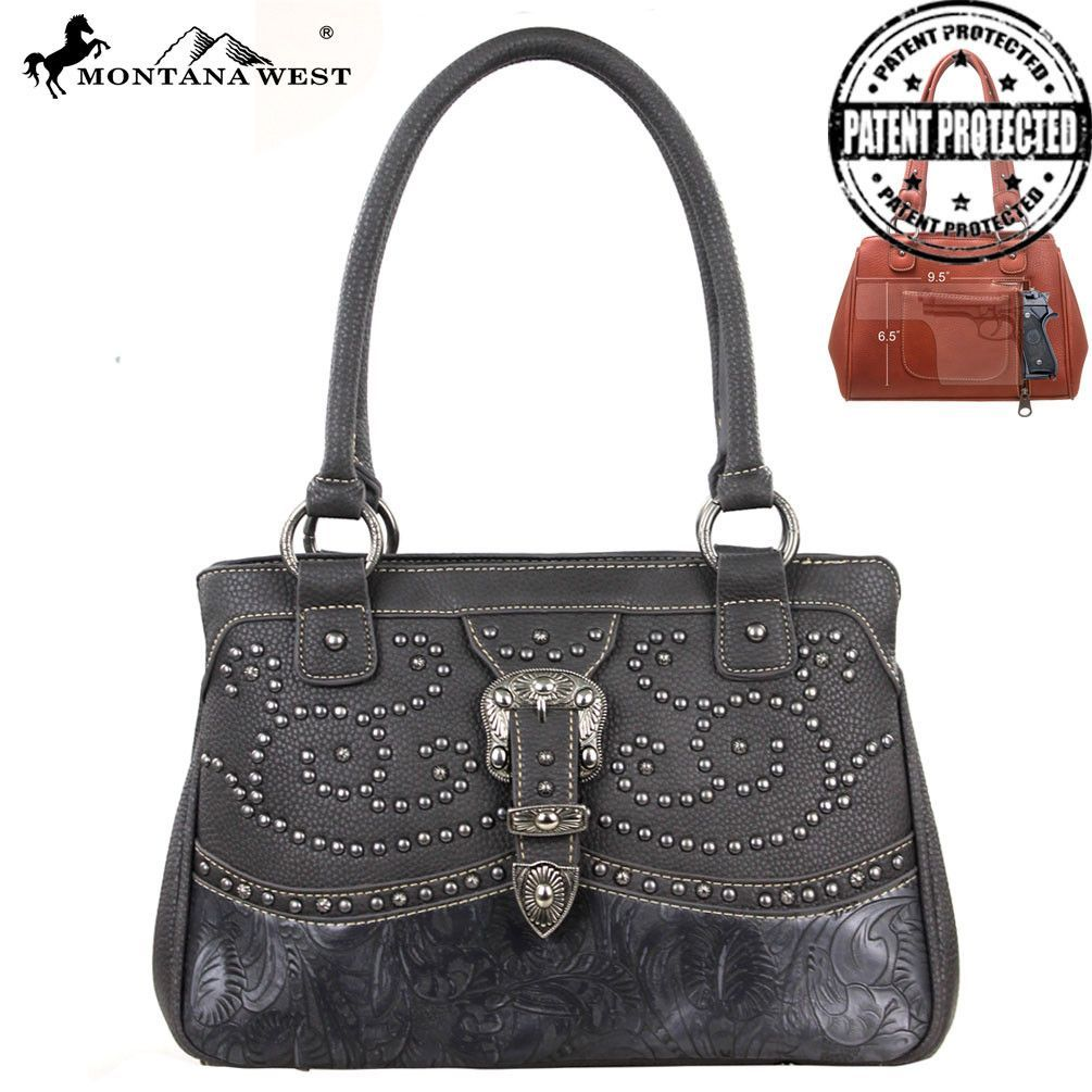 Montana West MW127G-8247 Buckle Concealed Carry Handbag