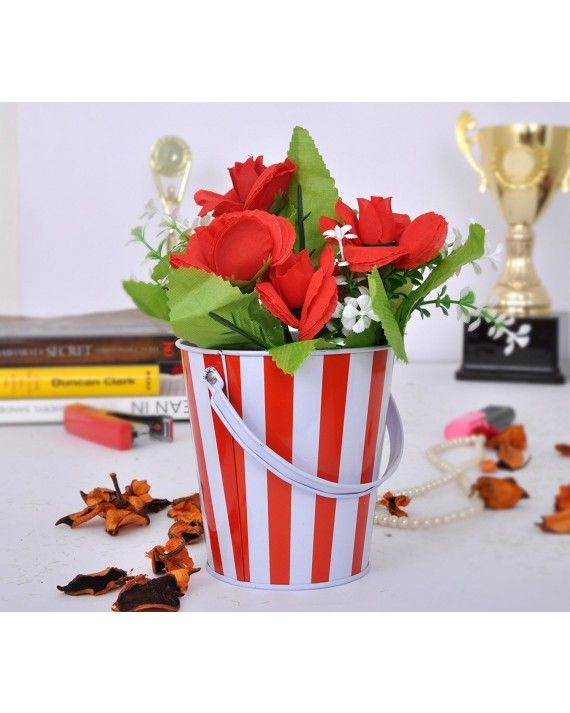 Buy Online Flowers Vase With Artificial Flowers 42 Inch X 4 Inch