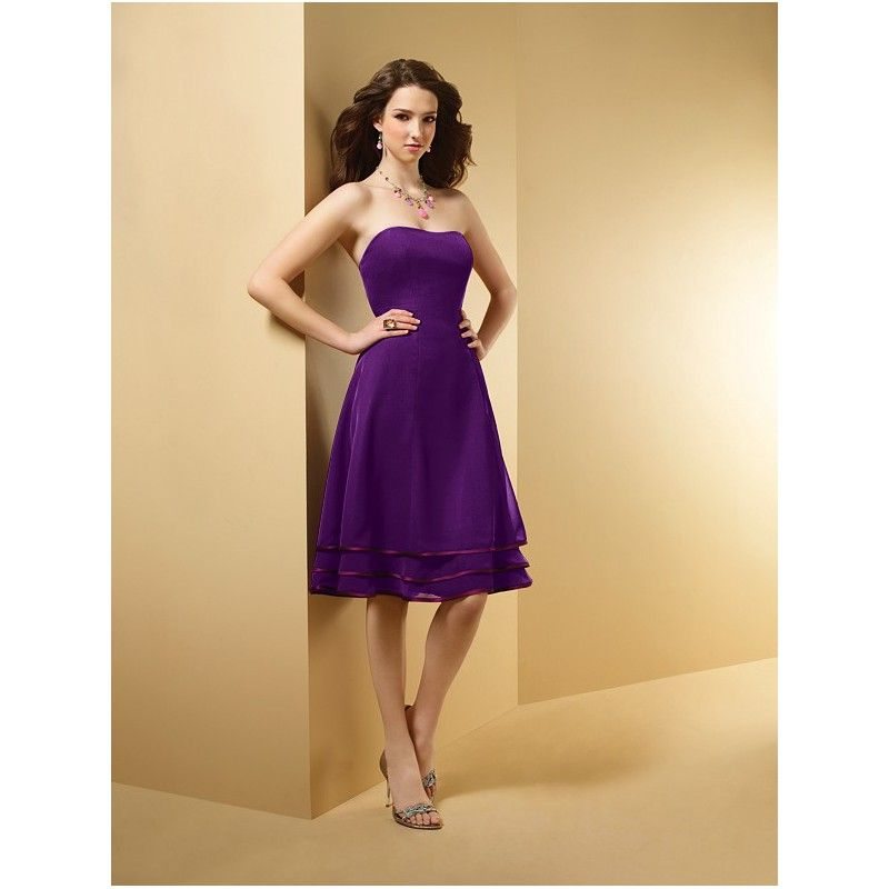 Cute Short Purple Bridesmaid Dresses