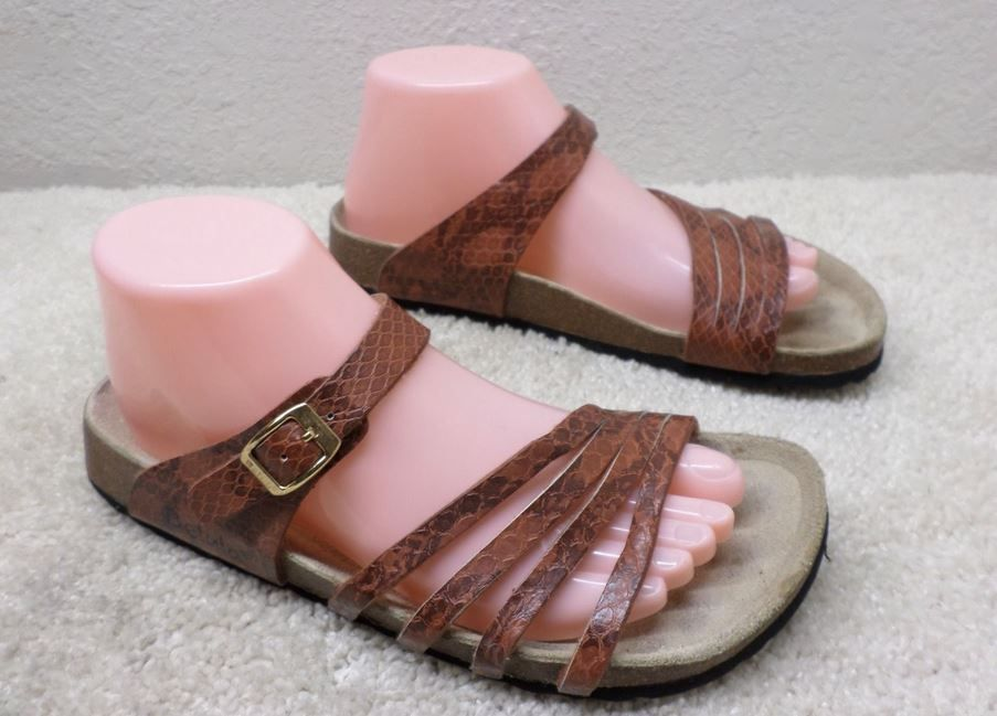 Betula Burma shades of brown snakeskin | Gladiator sandals