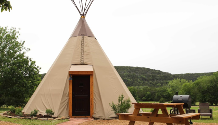 Spend The Night Under A Teepee At This Unique Texas
