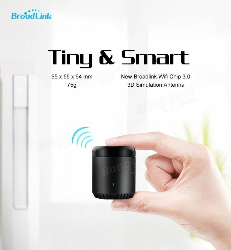 Broadlink Black Bean Smart Home Wifi Remote IR Controller Universal Appliances Smart Control at Banggood