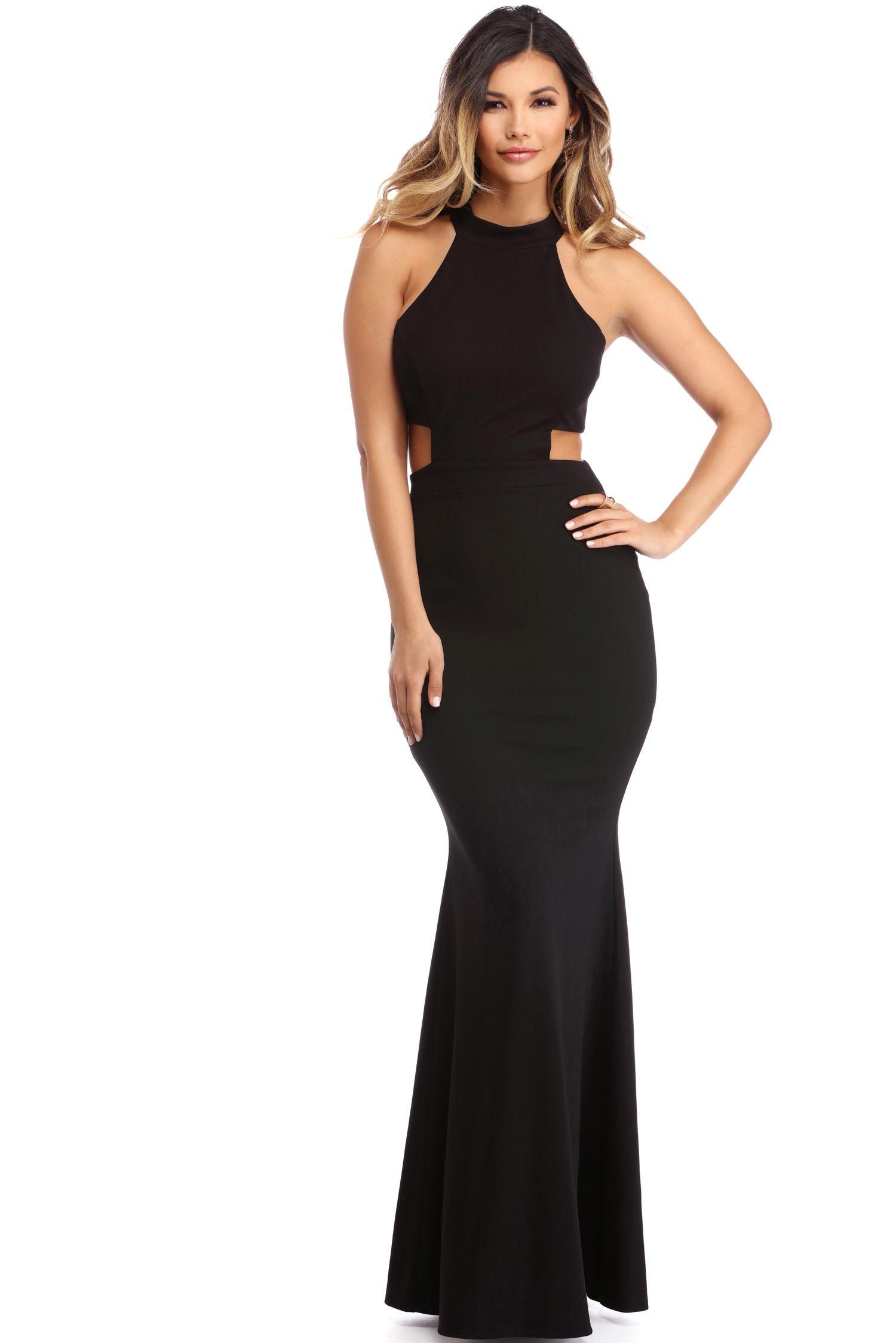 Monica black back detail dress black products and windsor