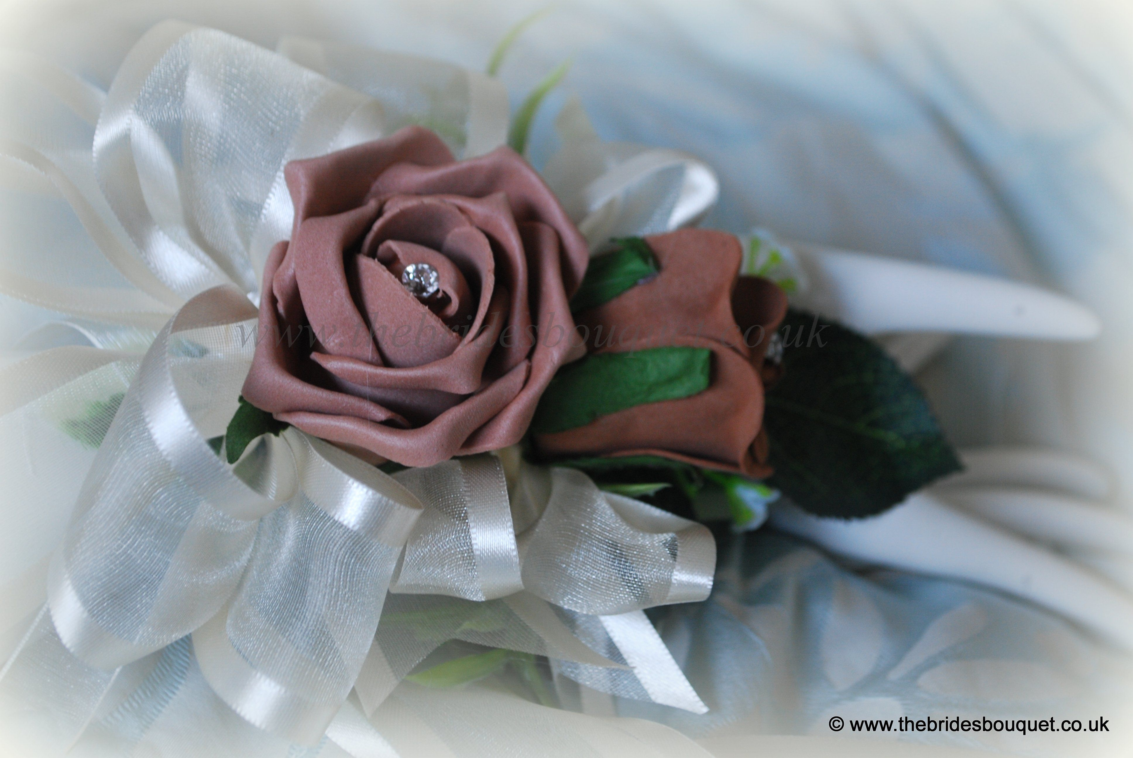 Chocolate and mocha wedding flowers wrist corsage by www chocolate and mocha wedding flowers wrist corsage by thebridesbouquet izmirmasajfo Gallery