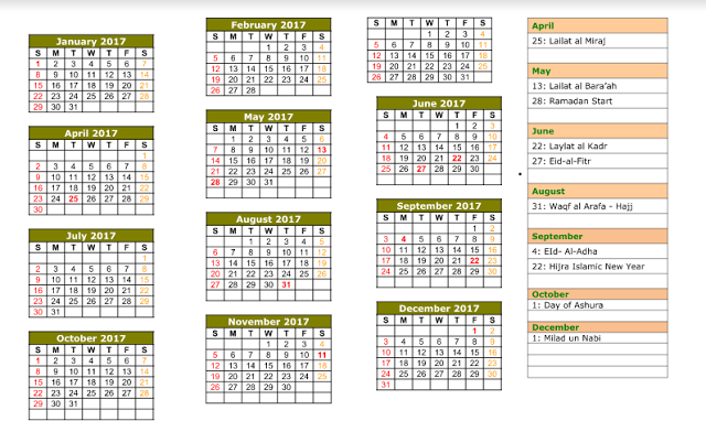 Islamic Calendar 1438 Islamic calendar, Hijri calendar