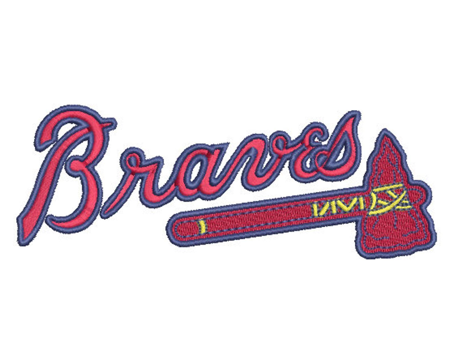 Atlanta Braves Embroidery Design 1 5 Sizes Image 0 Atlanta Braves Logo Atlanta Braves Braves