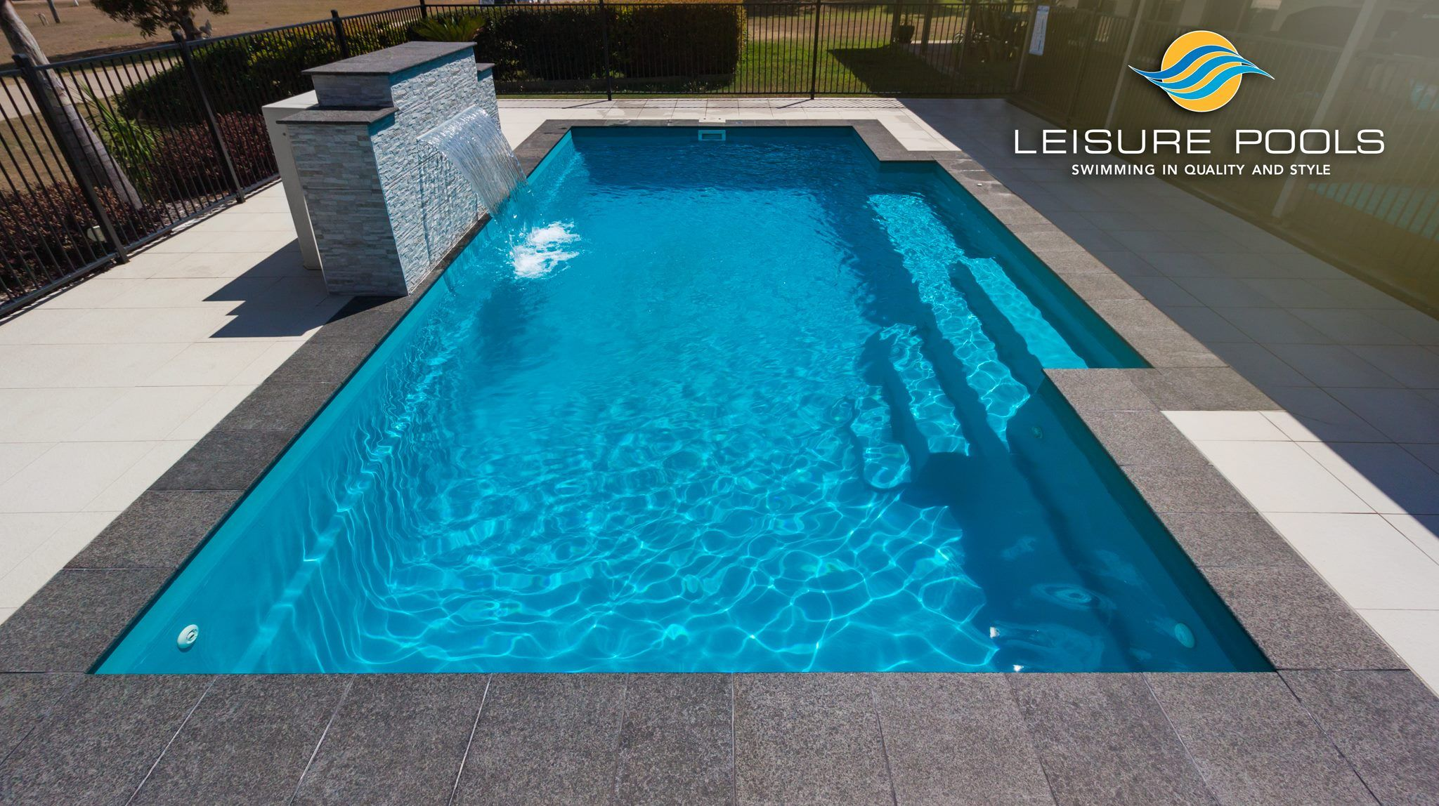 Gfk Pool Victoria The Elegance In Crystal Blue By Leisure Pools Leisure Pools