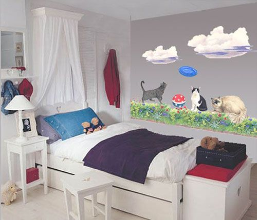More Than 50 Cool Ideas For Cat Themed Room Design Digsdigs Girls Room Decor Diy Girls Bedroom Room Themes