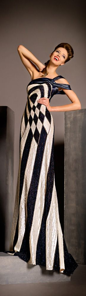 Blanka Matragi 2012 Haute Couture Spring Summer Evening Gowns Collection /. Harlequin diamond
