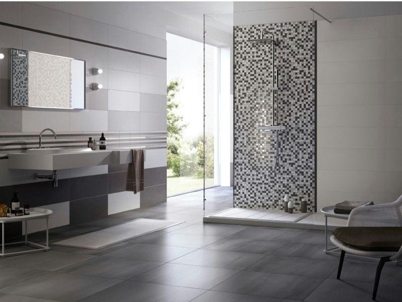 carrelage mosaique salle de bain - recherche google | salle de ... - Salle De Bain Design Gris