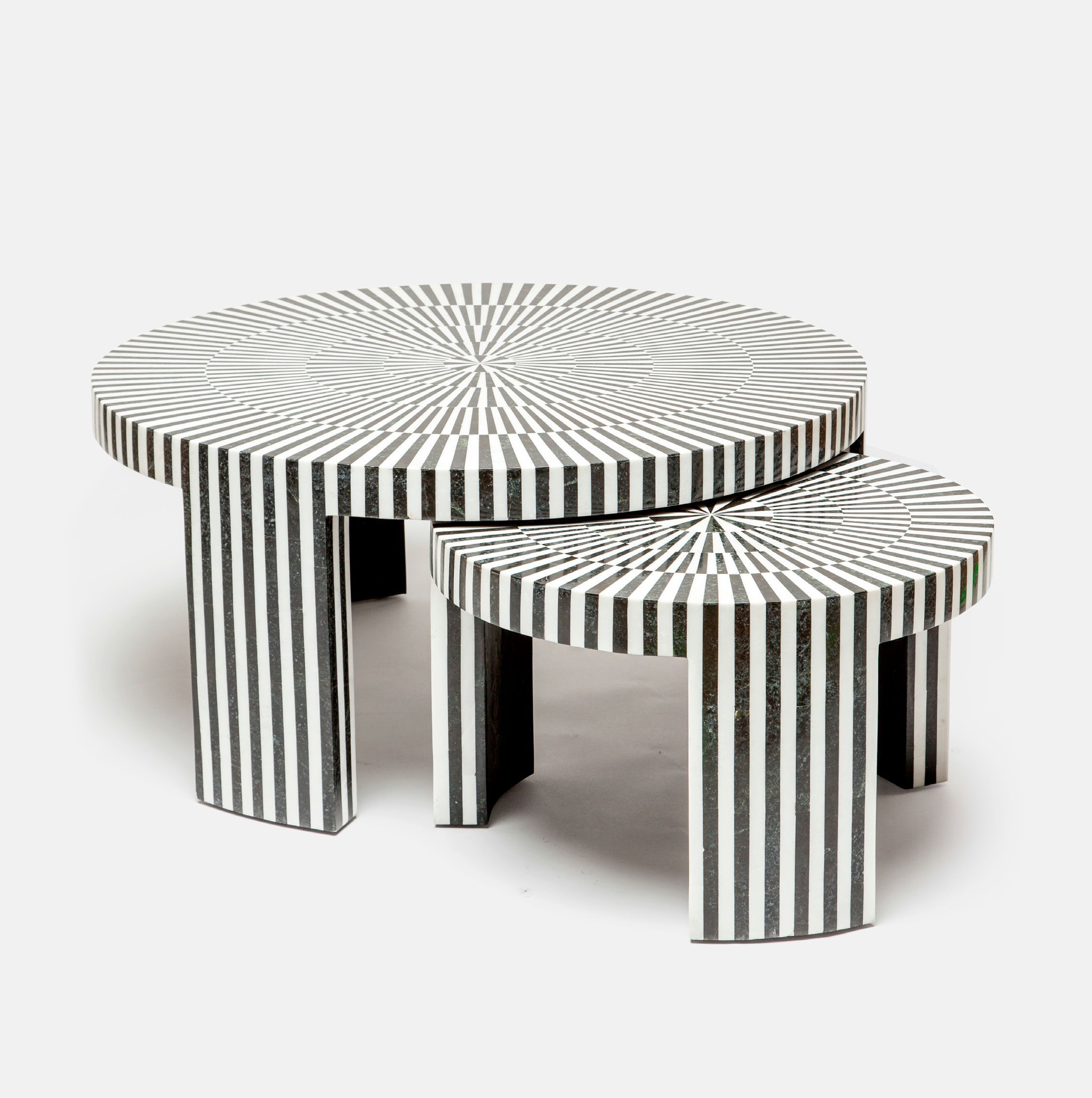 Marble Striped Nesting Coffee Table Sets Mecox Gardens Nesting Coffee Tables Coffee Table Setting Nesting Tables [ 2271 x 2259 Pixel ]