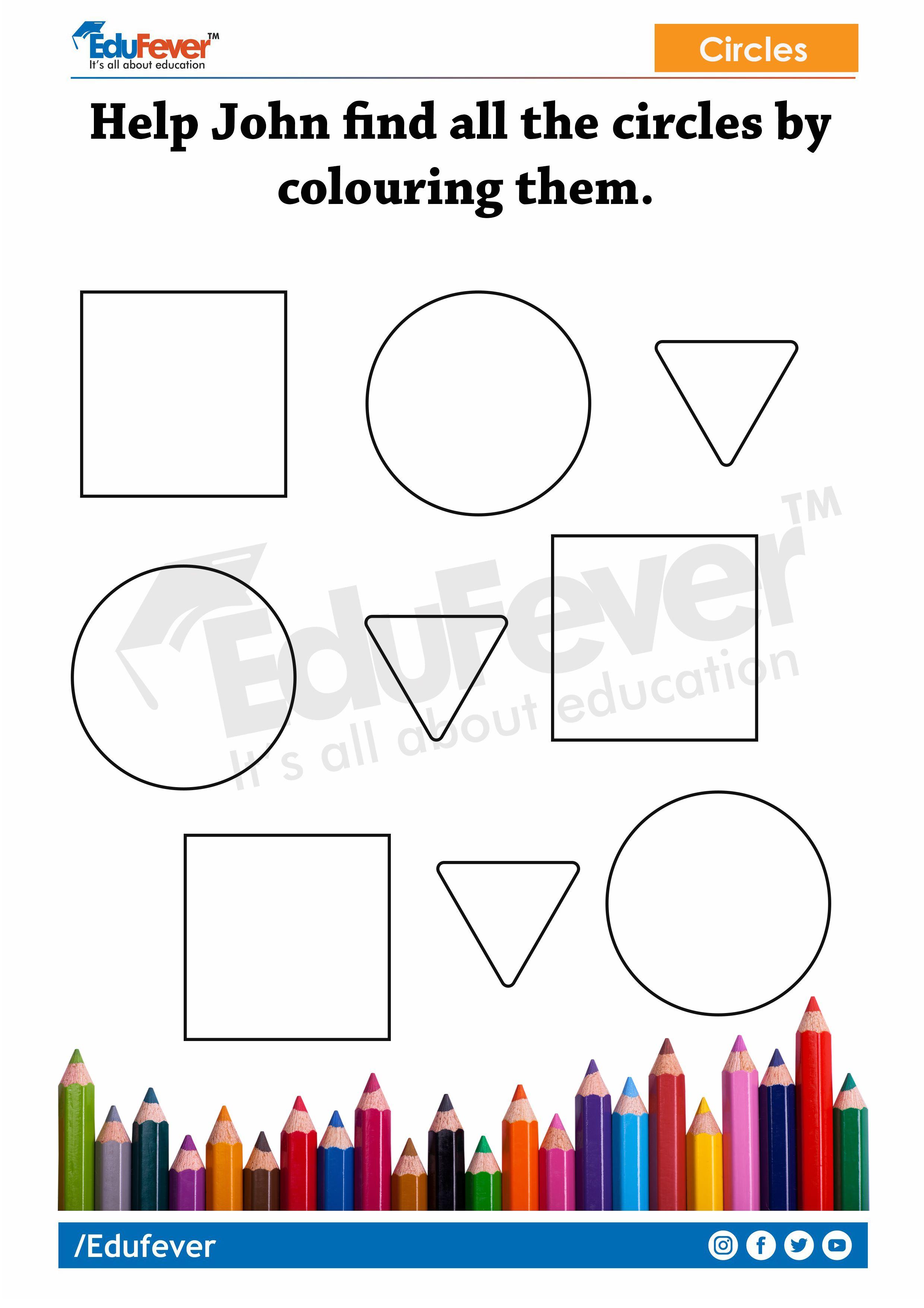 Finding Shapes Lkg Worksheets In For Kindergarten In