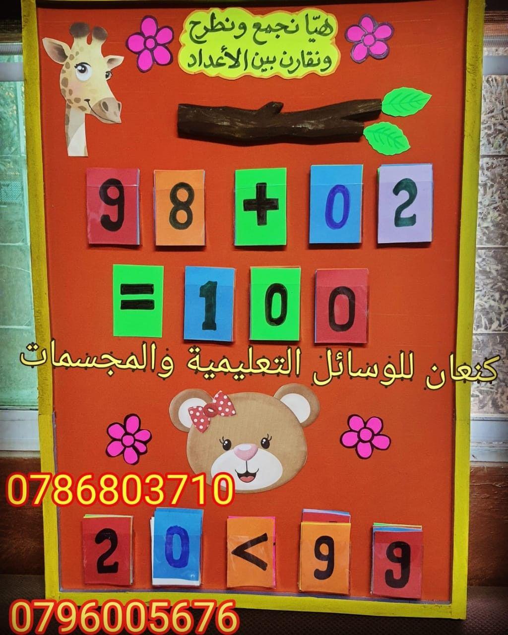 وسيلة تعليمية لتعليم المقارنة بين الاعداد Math For Kids Math Kids
