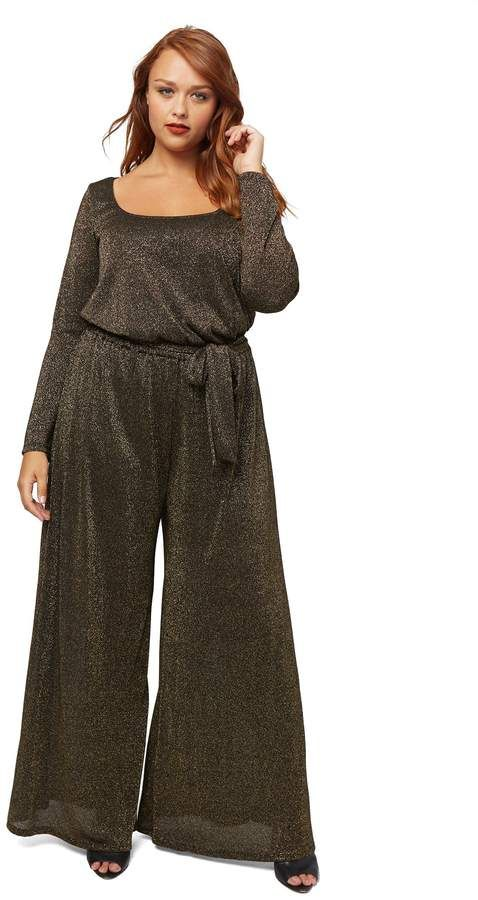 24e17e604590f Rachel Pally Wide Leg Sweater Jumpsuit Wl - Black  Gold Plus Size Jumpsuit