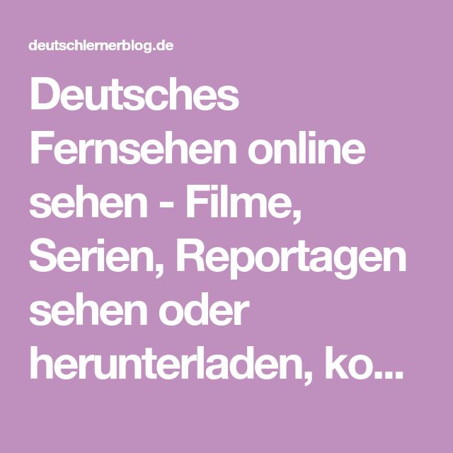 Deutsches Fernsehen Online Kostenlos