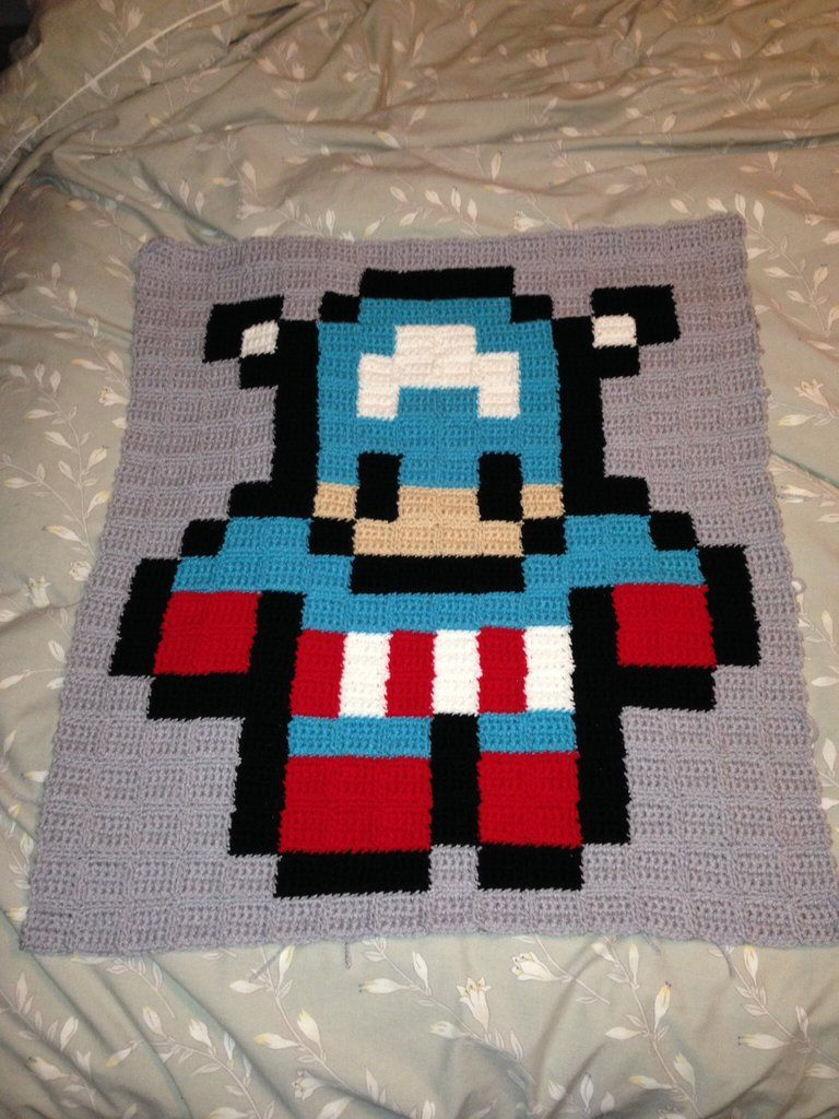 Marvel Avengers Afghan Crochet Projects By Tashiab Basic Granny Square Stitch Diagram W Patterns Squares Are Ch6 And 5 Rows Of With 5mm Hook
