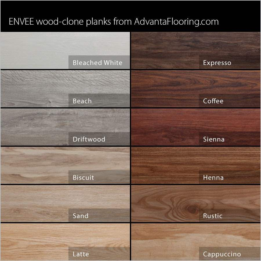 Selection Of Our Envee Wood Look Loose Lay Flooring Products Http Www Garageflooringllc Com Adva Wood Floor Stain Colors Wood Floor Colors Floor Stain Colors