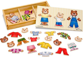 Melissa & Doug Wooden Bear Family Dress-Up Puzzle Only $8.99!