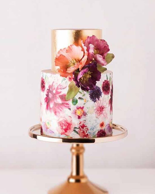 """25 Likes, 1 Comments - Nina Rose Bridal (@ninarosebridal) on Instagram: """"Would you dare to pick a colourful wedding cake?  #wedding #weddings #weddingday #weddingcake #cake…"""""""