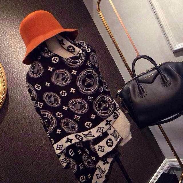 27e8133df75a günstig Louis Vuitton Paris Schal Tuch Baumwolle Kashmir billig gut  preiswert 180 cm