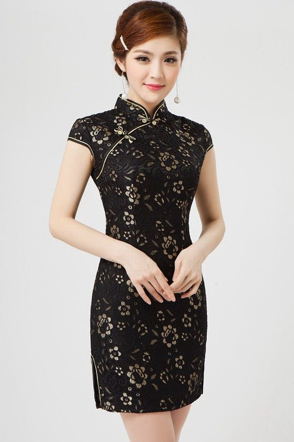 Shop Sexy Black Lace Casual Chinese Cheongsam Dress Find Featured