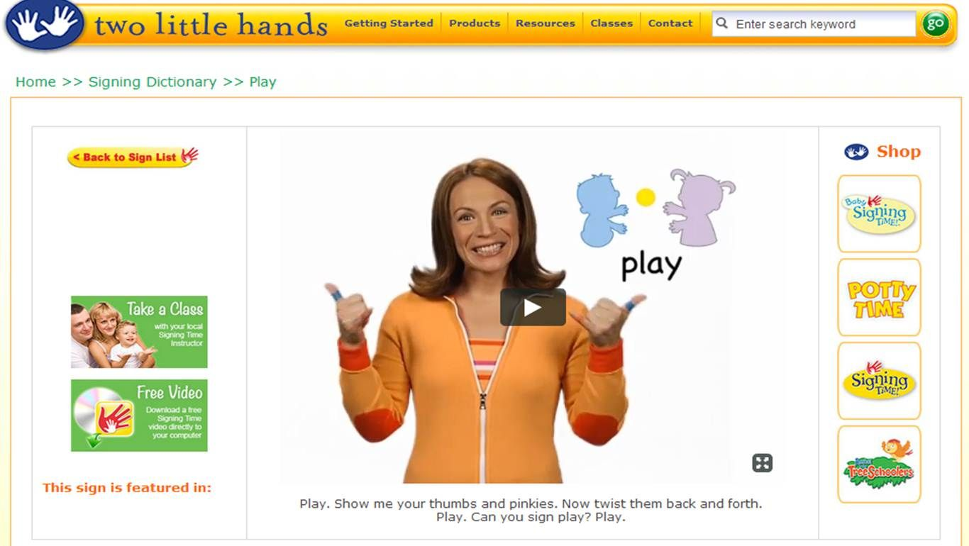 Play Baby Sign Language Baby Sign Language Video Sign