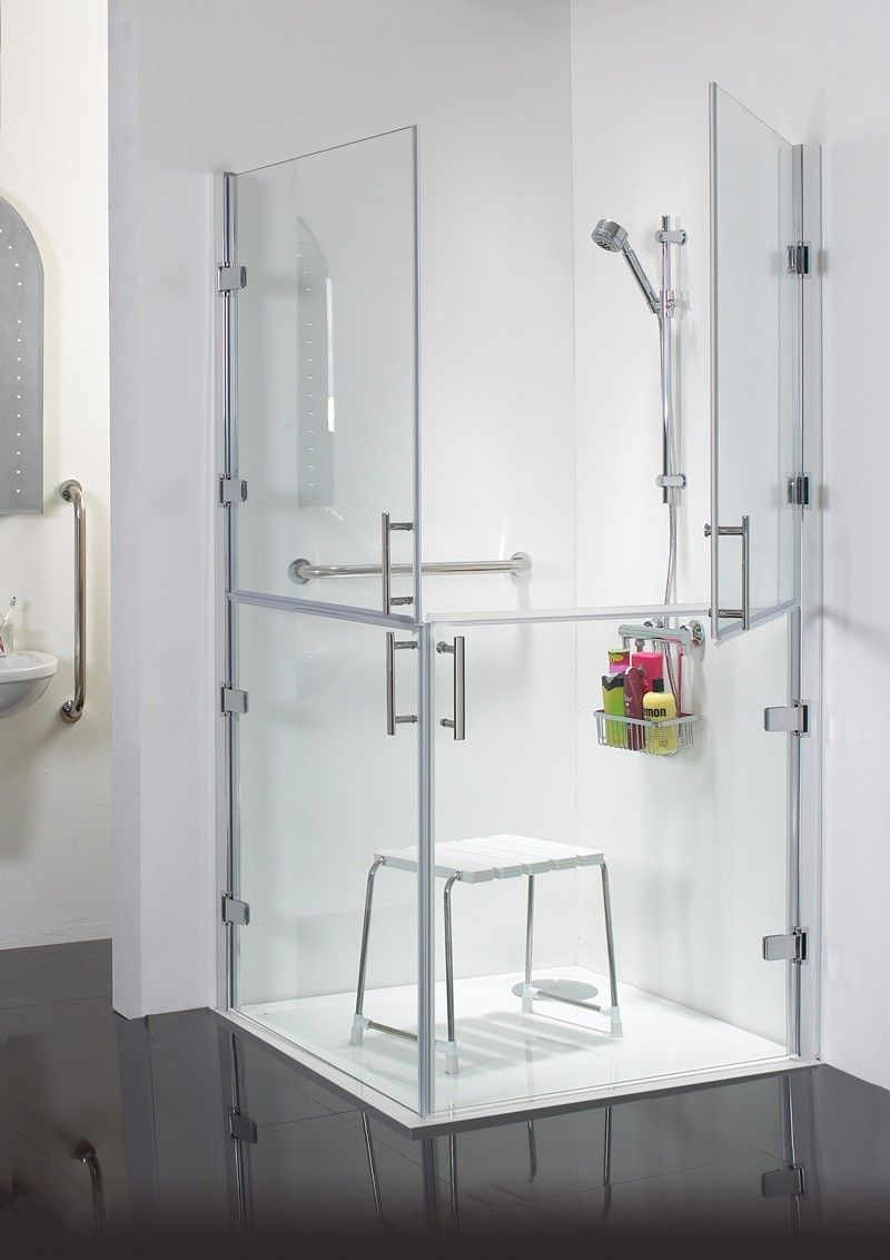 Ambiance 1000mm Hinged Shower Doors Hinged Pivot And Side Doors Kucuk Banyo Ve Banyo