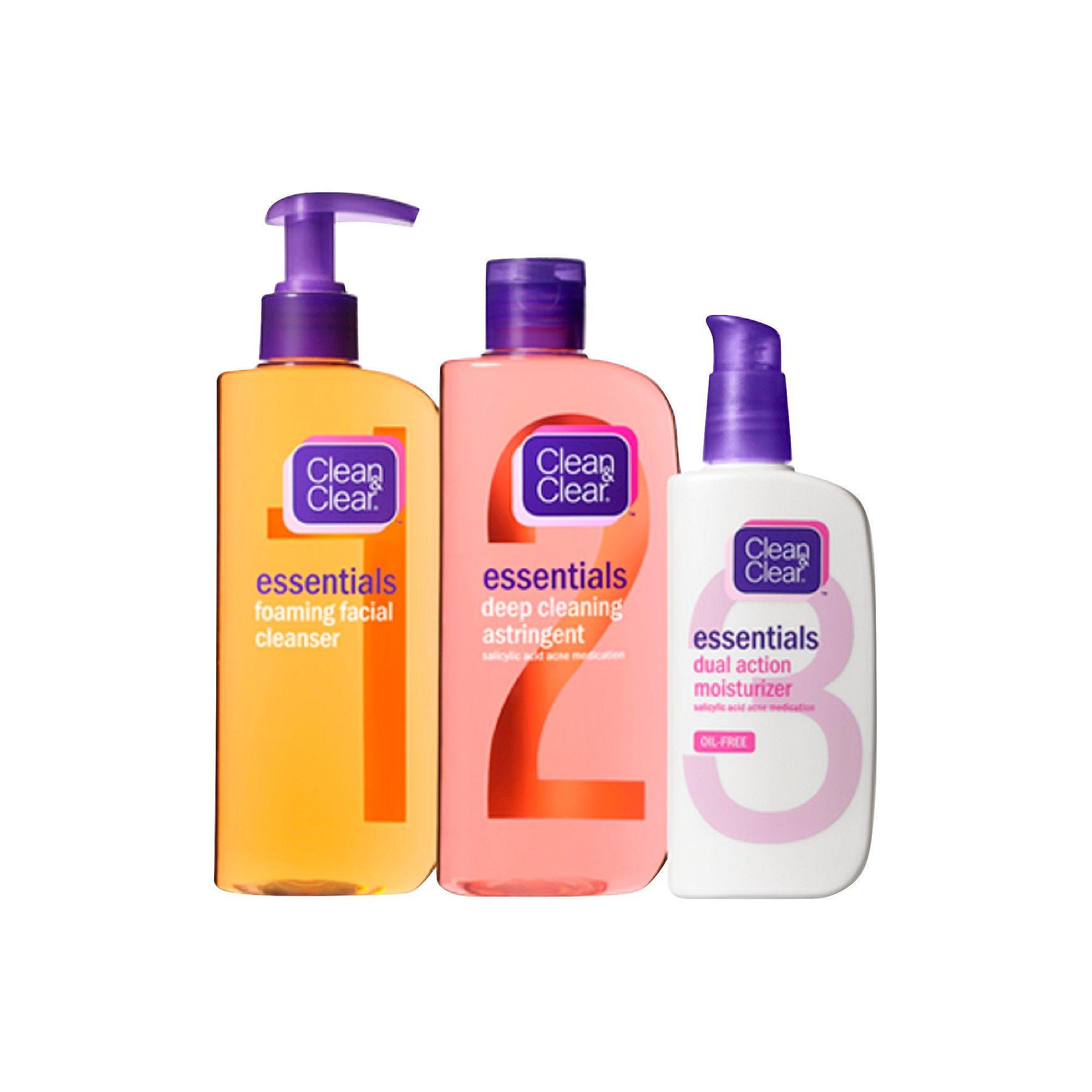 Clean clear daily skincare essentials 3pc sensitive