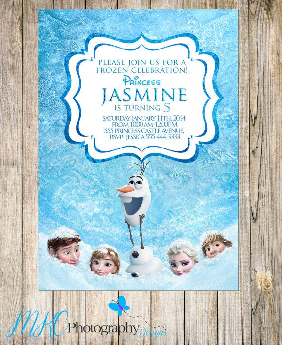 Disney Frozen Invitation Frozen Invitation 1st by MKCPhotography5 - invitation birthday frozen