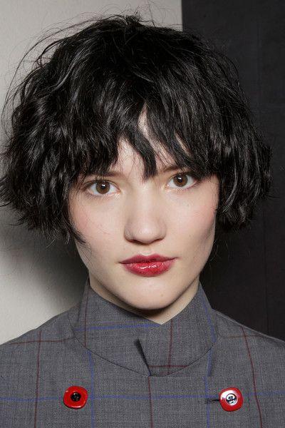 Emporio Armani At Milan Fashion Week Fall 2015 French Bob Haircut Short Hair Styles Hair Styles