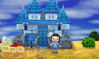Acnl My House Remodeled Into A Blue Castle By Magic Kristina Kw