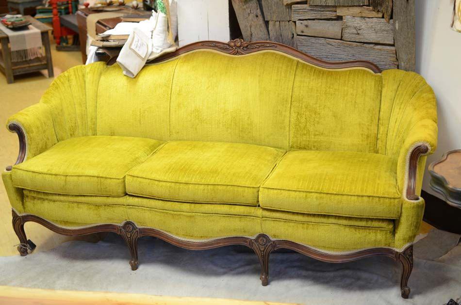 Vintage Velvet Sofa.