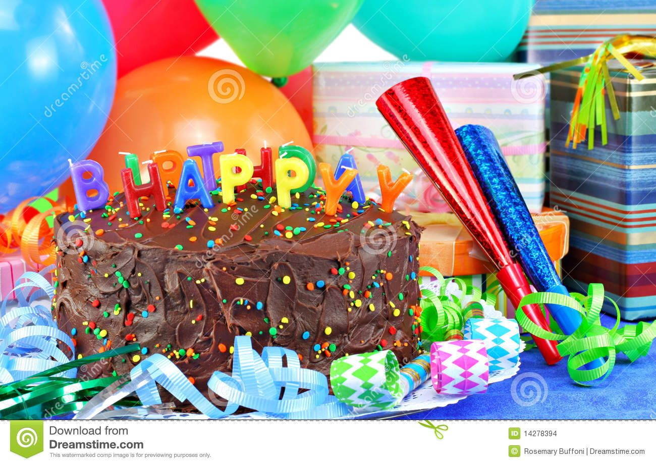 Fabulous Happy Birthday Cake And Balloons Stock Images Image 14278394 Funny Birthday Cards Online Alyptdamsfinfo