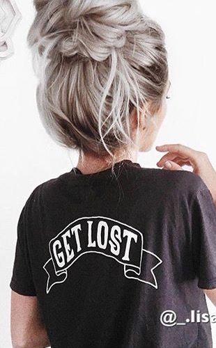 Pin by Kristin Crisp on Platinum blonde hair | Pinterest hair, Hair styles, Messy bun hairstyles