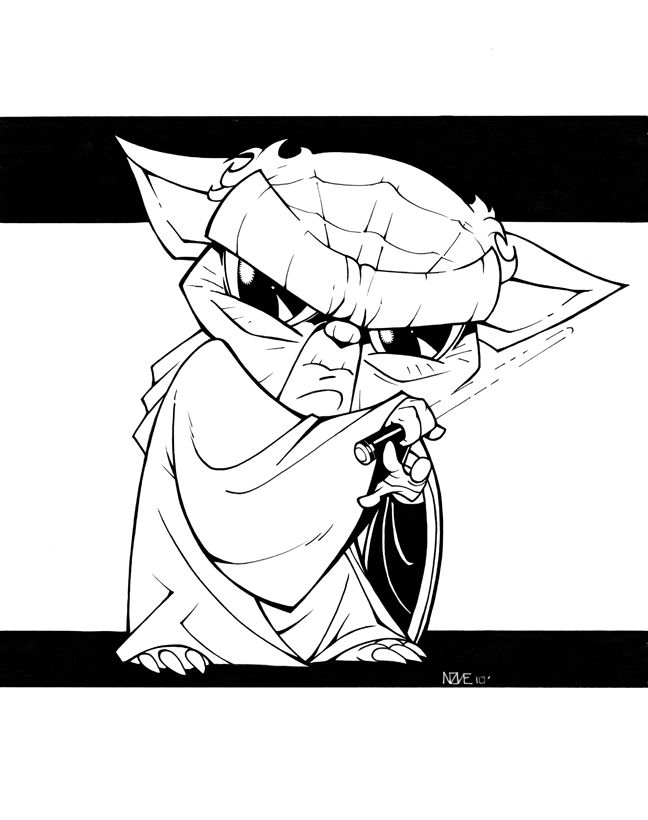 Baby Yoda By Olivernome Sketches Adult Coloring Pages Chibi