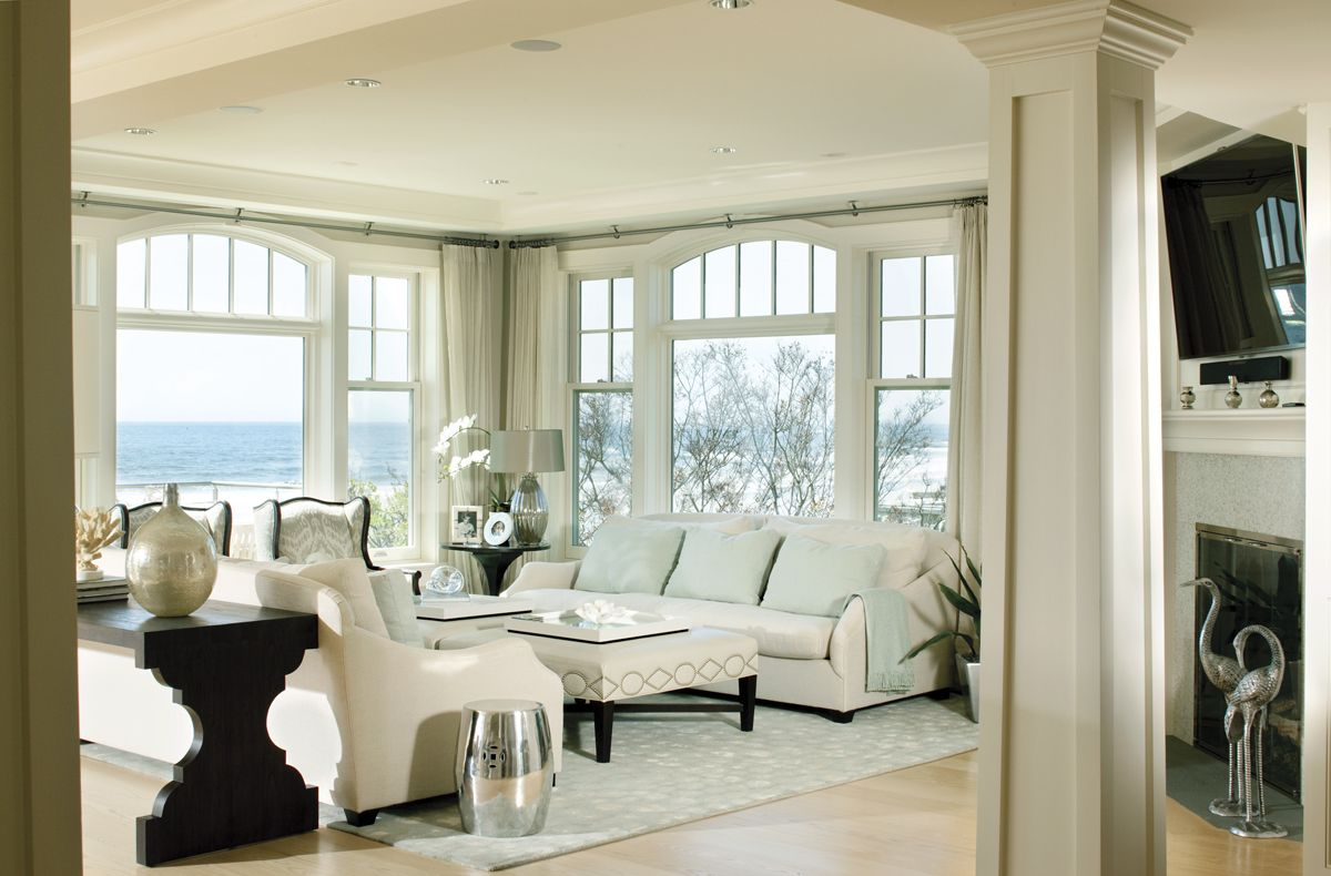 New Hampshire Style Neutral Living Room Hampton Style Calm