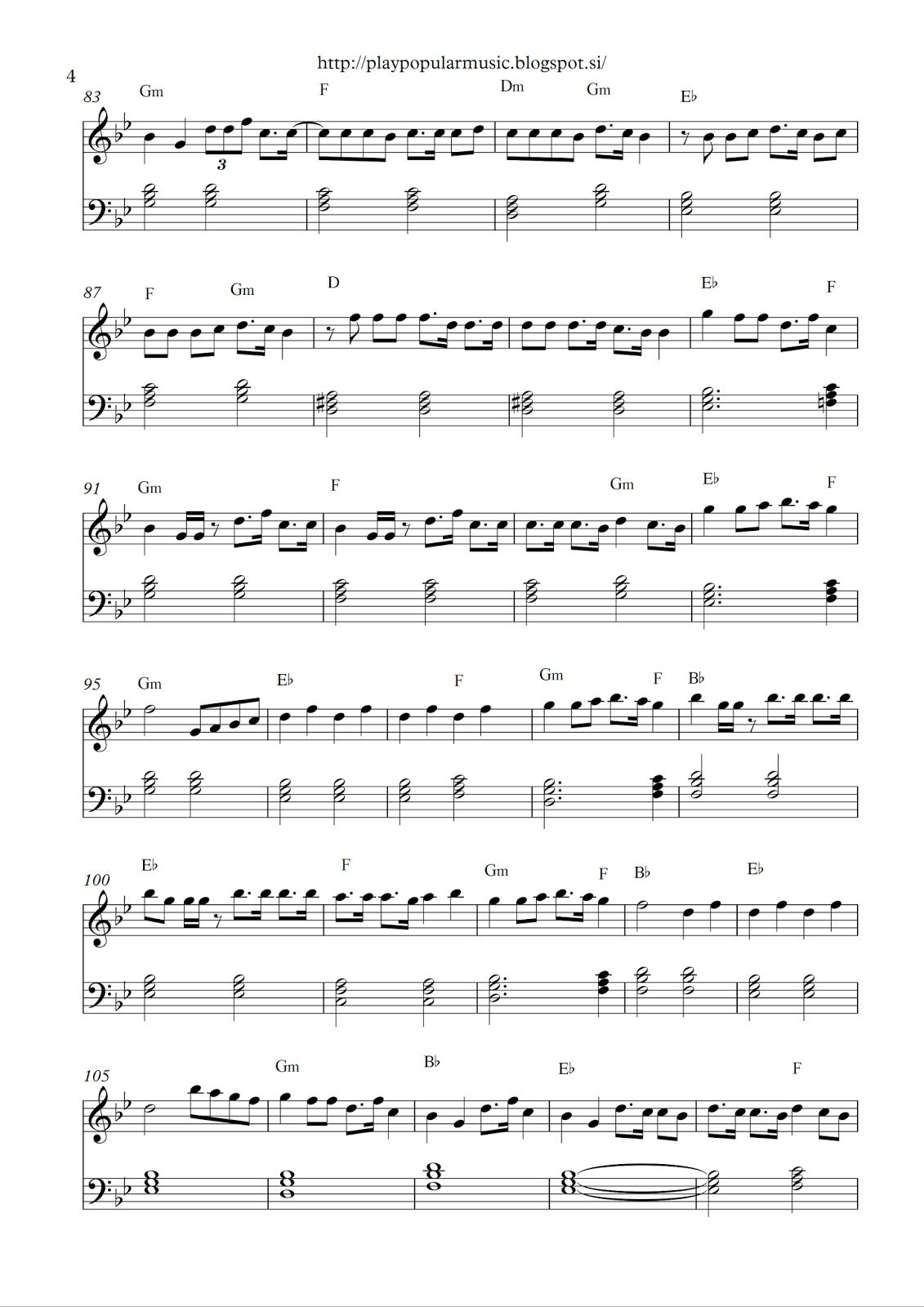 Free full piano sheet music: 24 Years – Lukas Graham.pdf My