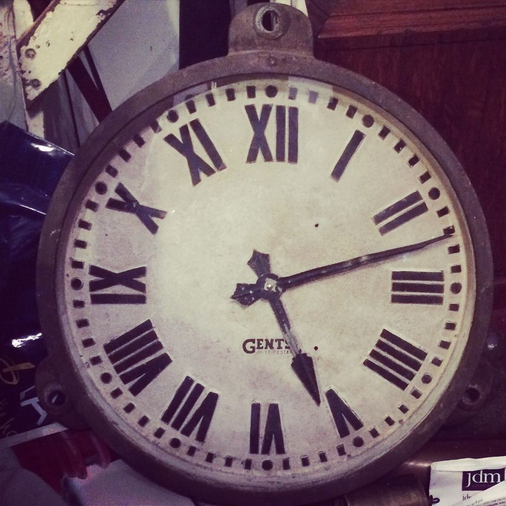 antique industrial factory clock gents of leicester pre1900