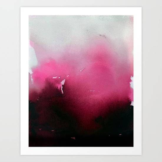 Limited Edition 16 x 20 Magenta Gradient Art Print- Contemporary Art ...