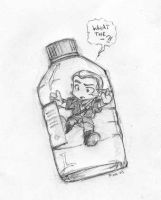 Elf in a bottle by Pika-la-Cynique