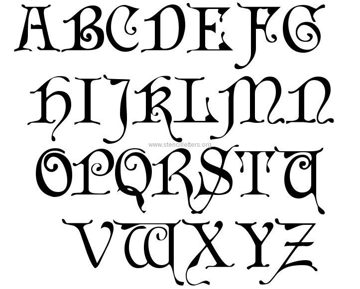 Read Article Cardinal Blackletter Large Letter Stencils A Z